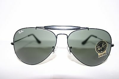 935347e0a New Vintage Ray Ban RAYBAN Bausch&Lomb Sunglasses Black Metal Outdoorsman  L2114