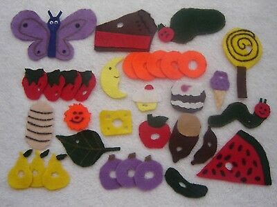 33 piece Very hungry caterpillar felt story