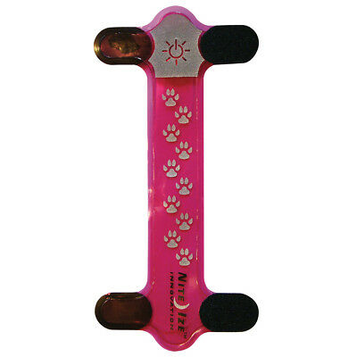 Nite Ize Nite Dawg Bright Red Led Pet Collar Cover Dog Cat Safety Pink