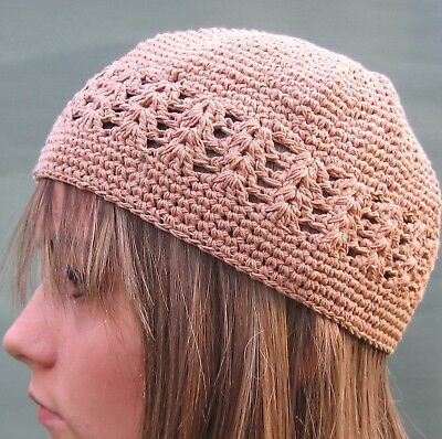 KHAKI Crochet Beanie Hat Skull Cap Kufi (Beige Brown)NEW #1