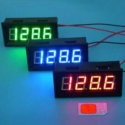 "0.56"" Digital LED Clock Adjustable 24 Time Car Motorcycle DC 12V 24V Watch Blue"