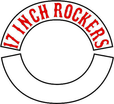 Custom Embroidered Thin Border  17 Inch  Rocker Patch