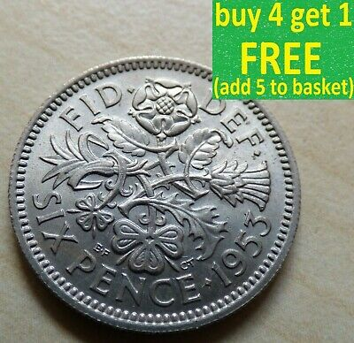 Elizabeth II Sixpence Choice of Dates 1953 - 1967 Pick Your Own Choose