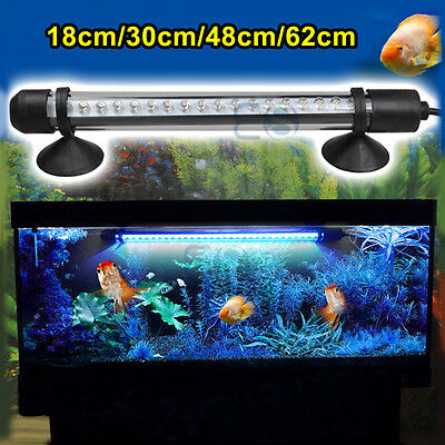 Aquarium Fish Tank Waterproof White Blue 18 30 48 CM LED Light Bar Submersible