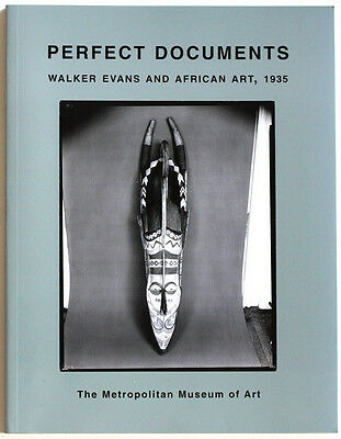 WALKER EVANS*Perfect Documents*African sculpture*book