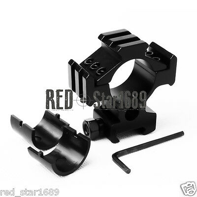 High Profile Tri-Rail 25mm/30mm ring Scope Mount for Weaver Picatinny Rail 20mm