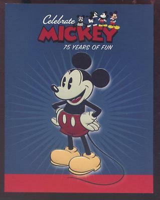Disney MICKEY MOUSE 75 Years of Fun - Aust Post Sheetlet Stamp Pack