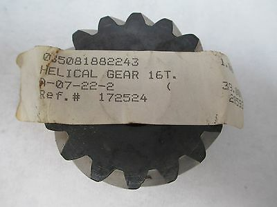 New No Name Keyed Helical Worm Gear A-07-22-2 A07222 16 Teeth 20Mm Bore