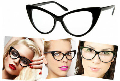 3 choice! Vintage Cat Eyes Designed Fashion Eyeglasses, Glasses with Clear Lens