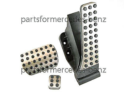 Mercedes C Class 07-on, E Class 09-on, CLS 11-on Aluminum Pedal Covers (Auto)