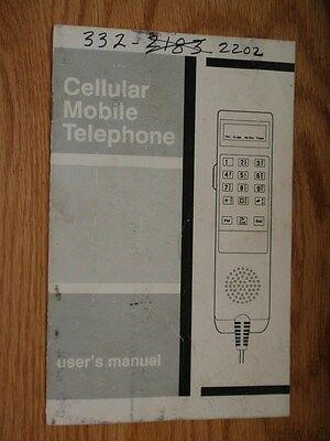 Motorola Vintage 1989 Cellular Mobile Telephone User's Manual