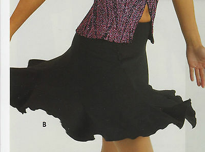 NEW Jazz Tap Dance Black Flutter Skirt Ladies and Girls Sizes