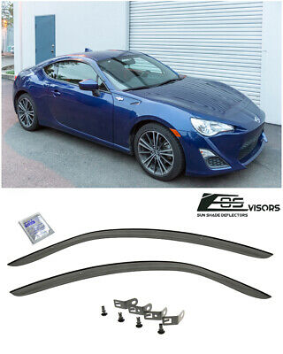 CLIP ON For 13-Up Toyota 86 / Scion FRS JDM Window Rain Guard Visors Deflectors