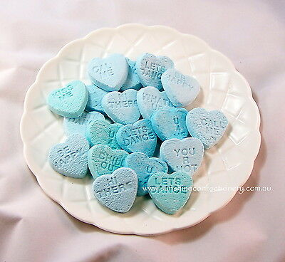 Aussie Love Hearts-Blue 400g - Wedding Favours, Party Sweets,Candy Post Included