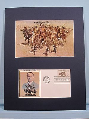 """Ceremony of the Scalps"" painted by Frederic Remington  & First Day Cover"