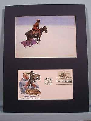 """The Scout: Friends or Enemies"" painted by Frederic Remington & First Day Cover"