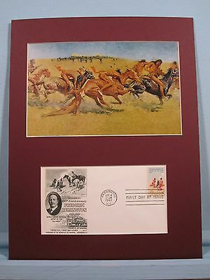 """Indian Warfare"" painted by Frederic Remington & First Day Cover"