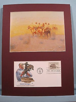 """Evening in the Desert"" painted by Frederic Remington & First Day Cover"
