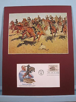 """On the Southern Plains"" painted by Frederic Remington & First Day Cover"