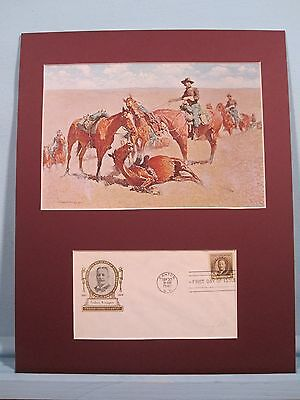 """Among the Led Horses"" painted by Frederic Remington & First Day Cover"