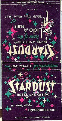 Stardust Casino (Las Vegas) Match Book Cover (Su)