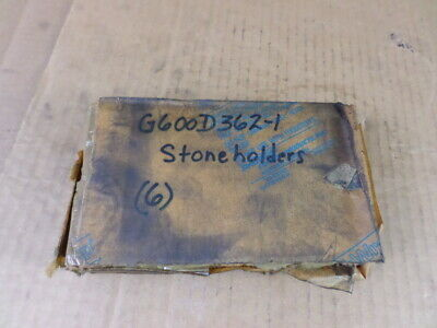 "Lot of 6 General Hone G600D362-1 6""L X 0.644""W X 0.725""H Stone Holders"