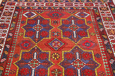 c1920s ANTIQUE COLORFUL CAUCASIAN RUG 5.8x9.8 ULTRA RARE SIZE BEAUTY