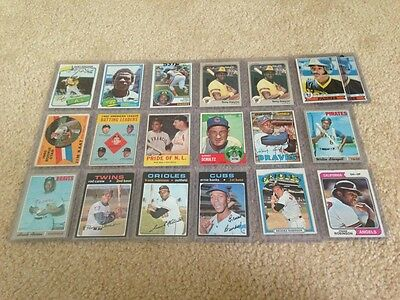 Hall Of Fame Baseball Lot - Hank Aaron, Ernie Banks, Willie Mays, Stan Musial