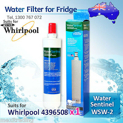 1x Water Sentinel WSW-2 Replacement Fridge Filter for Whirlpool 4396508