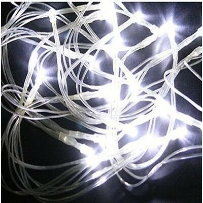 Holiday Battery Power Operated 30LED String Lights White Flash CHRISTMAS Decorat