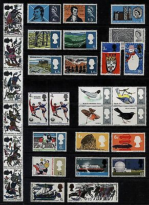 GB 1966-70 Commemorative Stamps, Year Sets~Unmounted Mint~UK Seller