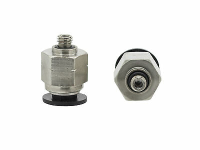 """10 x 1/4"""" OD x 10-32 UNF Male Straight One Touch Push to Connect Air Fitting"""
