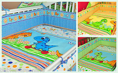 3 pcs BABY BEDDING SET/BUMPER/ DUVET COVER 4cot or cot bed+ FREE CHANGING MAT