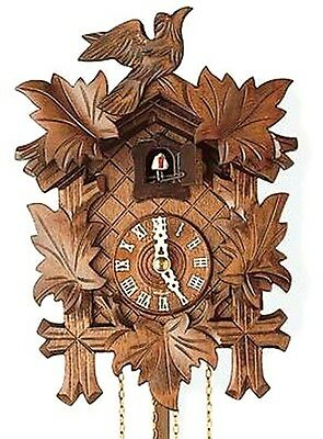 Authentic German Black Forest Cuckoo Wall Clock Hand Carved Antique-Style NEW