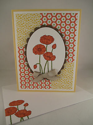 """Stampin Up """"Pleasant Poppies"""" Handmade Any Occasion Card"""