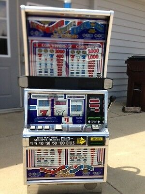 "Igt S2000 Coinless Slot Machine ""red White Blue Deluxe"" Year Warranty"