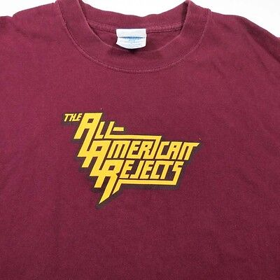 THE ALL AMERICAN REJECTS CONCERT TEE T SHIRT Sz Mens L Tyson Ritter
