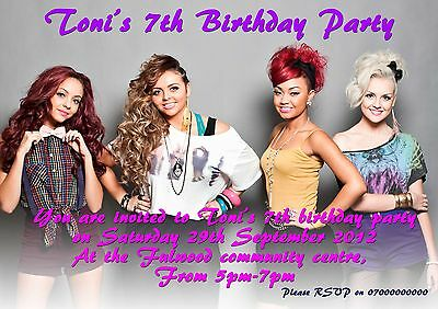 40 personalised Little Mix Birthday party invitations kids / children party