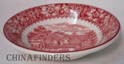 WOOD & SONS china COLONIAL PINK heavy FRUIT BERRY Bowl with clean crazing