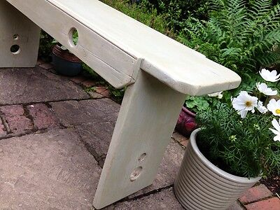 Antique Victorian Old Pine Church Pew School Bench Coffee Table Farrow And Ball