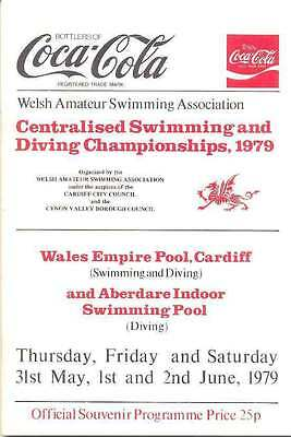 Welsh Amateur Centralised Swimming and Diving Championships 1979 Prog, Cardiff
