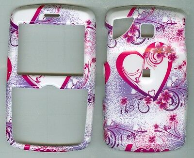 White Love Heart  HARD COVER CASE PANTECH REVEAL C790 AT&T