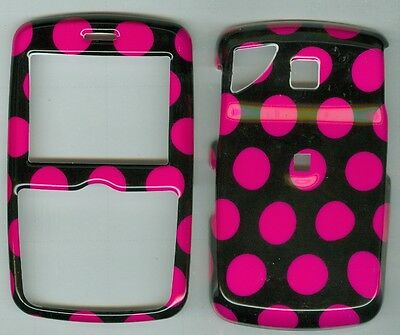 Black Pink Dot HARD COVER CASE PANTECH REVEAL C790 AT&T