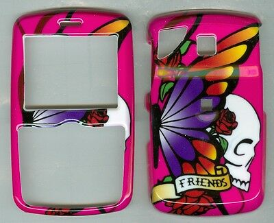 Pink Butterfly Skull Friends  HARD COVER CASE PANTECH REVEAL C790 AT&T
