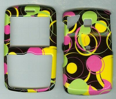 Black yellow Pink Dot Circle HARD COVER CASE PANTECH REVEAL C790 AT&T