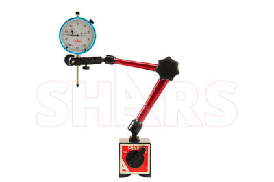 "Shars 1"" 0.001"" Dial Indicator + Universal Magnetic Base with Fine Adj. New"
