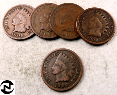 (1) 1900's Indian Head Penny Coin // 1900-1909 // Good or Better