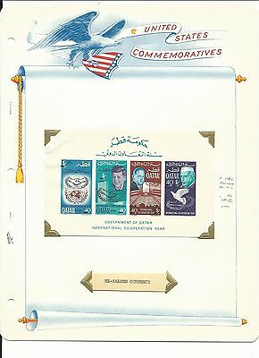 Qatar Postage Stamps, John F. Kennedy, #118c Imperf Souvenir Sheet Mint NH, 1966