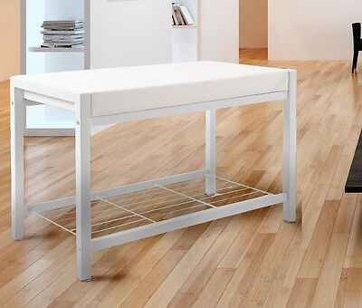 Shoe Shoe Rack Shoe Shelf Shoe Shelf Bench Sitting Frame Seat Bank White