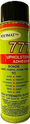 Polymat 777 Foam Spray Glue Adhesive for Fabric Carpet Arts&Crafts Upholstery